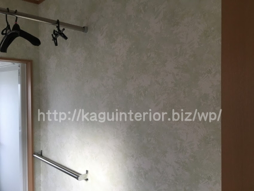浴室の壁紙