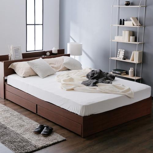 オシャレな収納付きベッド