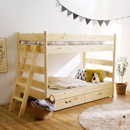 2段ベッドのコンパクトスリム