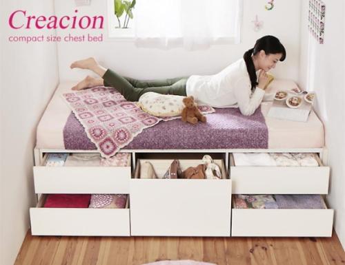 コンパクトデザインベッド