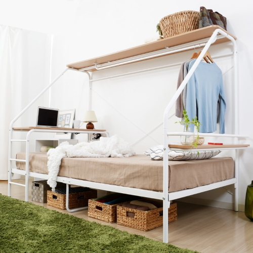 デスク一体型ベッドフレーム