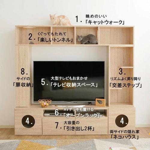テレビ台の猫の特徴